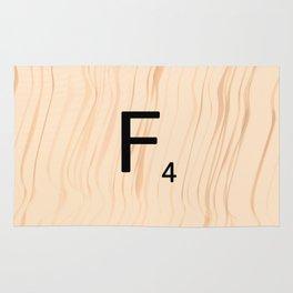 Letter F - Scrabble Art Rug