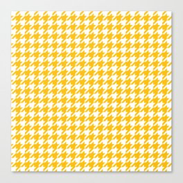 Amber Yellow Houndstooth Pattern Canvas Print