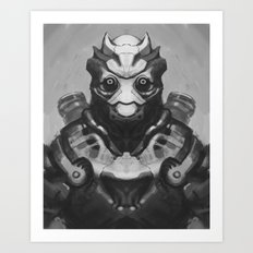 Robot Panda Art Print