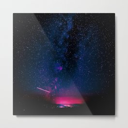 Electric Desert Starry Night Metal Print