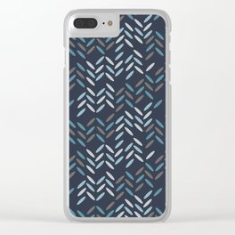 Knit pattern Clear iPhone Case