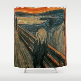 The Scream - Edvard Munch Shower Curtain