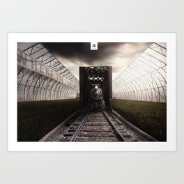 The terminal Art Print