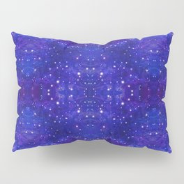Fractal Galaxy Blues Pillow Sham