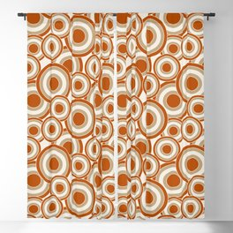 Overlapping Circles in Burnt Orange and Tan Blackout Curtain