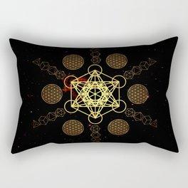 Metatron's Cube Platonic Solids Rectangular Pillow