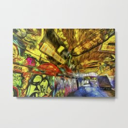 London Graffiti Van Gogh Metal Print