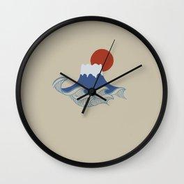 Minimal Mount Fuji wave Wall Clock