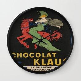 Vintage poster - Chocolat Klaus Wall Clock
