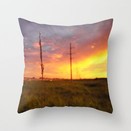 Sound Side Sunsets Throw Pillow