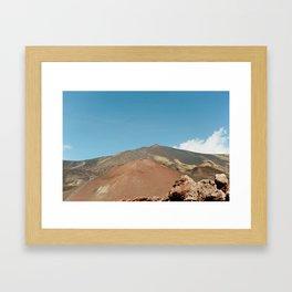 Mt. Etna Vulcano in Sicily Framed Art Print