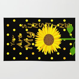 Sunshine Inspirational Quote Rug