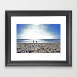 Beach Front  Framed Art Print
