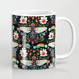 Decorative happy Bee - black Coffee Mug