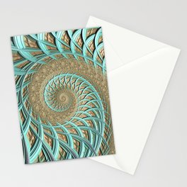 Golden Floss - Fractal Art  Stationery Cards