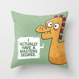 Masters Degree Throw Pillow