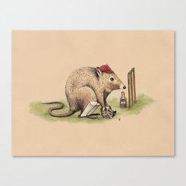 Potsie the Wicketkeeping Potoroo. Canvas Print