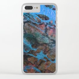 The Painter's Brush :: Corrupted Ocean Clear iPhone Case