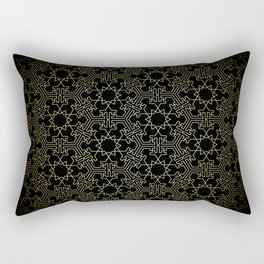Geodesic Gold 01 Rectangular Pillow