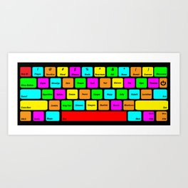 RPG Villian Keyboard Art Print