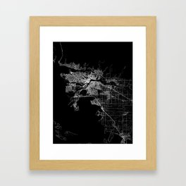 vancouver map canada Framed Art Print