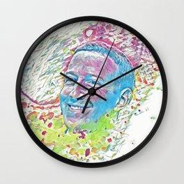 Mark Zuckerberg (Creative Illustration Art) Wall Clock