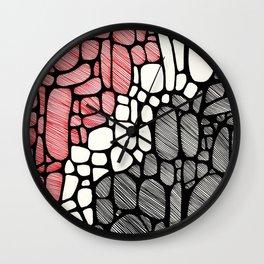 Piedras Rayadas 1 Wall Clock