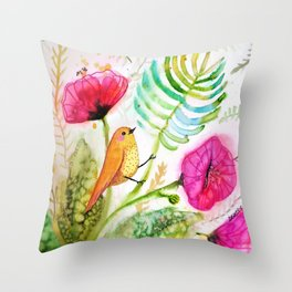 tropicoco Throw Pillow