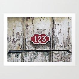 Address Plaque Art Print