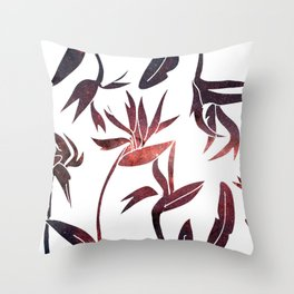 Birds of Paradise Space Cut-Outs Throw Pillow
