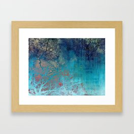 On the verge of Blue Framed Art Print