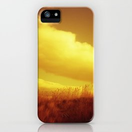 Red Sky at Night - Redscale Film Photograph on Chincoteague Island iPhone Case