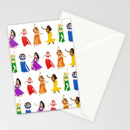 Belly Dancers - Rainbow Colors Stationery Cards