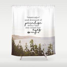 para-paradise Shower Curtain