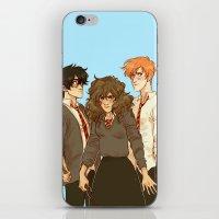 johannathemad iPhone & iPod Skins featuring golden trio by JohannaTheMad