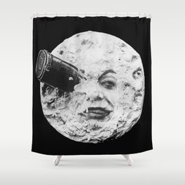 A Trip to the Moon 1902 - Artwork for Wall Art, Prints, Posters, Tshirts, Men Women Kids Shower Curtain