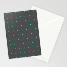 plus sign pattern Stationery Cards
