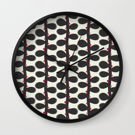 Like a Leaf [red spots] Wall Clock