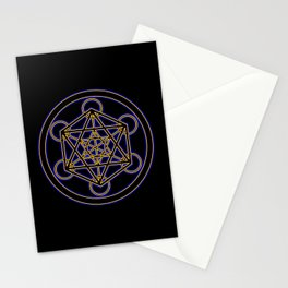 Metatron Blue Gold Stationery Cards