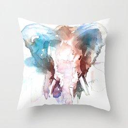 Elephant head / Abstract animal portrait. Throw Pillow