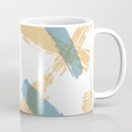 Brush Strokes Tan and Steel Coffee Mug