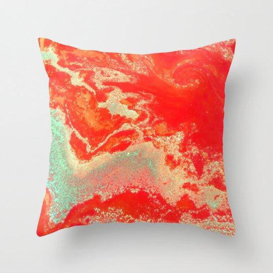 Sea Green + Coral #society6 #decor #buyart Throw Pillow by 83 Oranges Society6