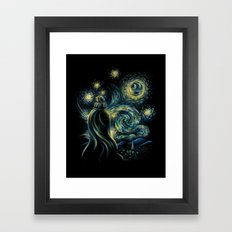 Death Starry Night Framed Art Print