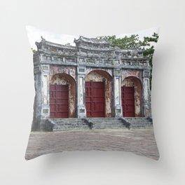 Gates to Royal Tomb Throw Pillow