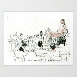 Figure Drawing, 103 Art Print