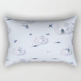 Blue Heron Skies Rectangular Pillow