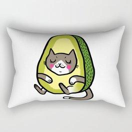 Cat Avocado Rectangular Pillow
