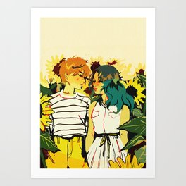 Huevember Day 3 - Uranus & Neptune Art Print