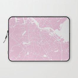 Amsterdam Pink on White Street Map Laptop Sleeve