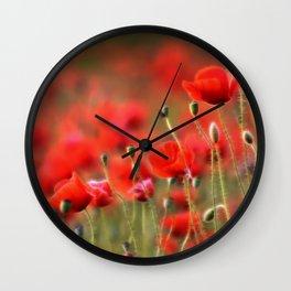 Mohnblumenwiese Wall Clock